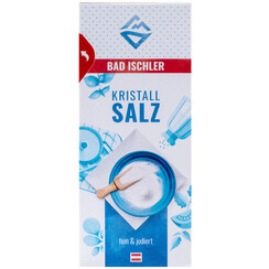 BAD ISCHLER crystal salt fine & iodised 500g