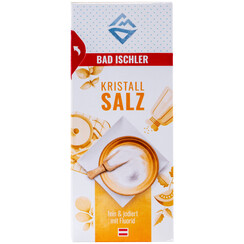 BAD ISCHLER crystal salt fine & iodised with fluoride 500g