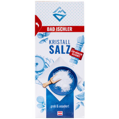 BAD ISCHLER crystal salt coarse-grained & uniodised 400g